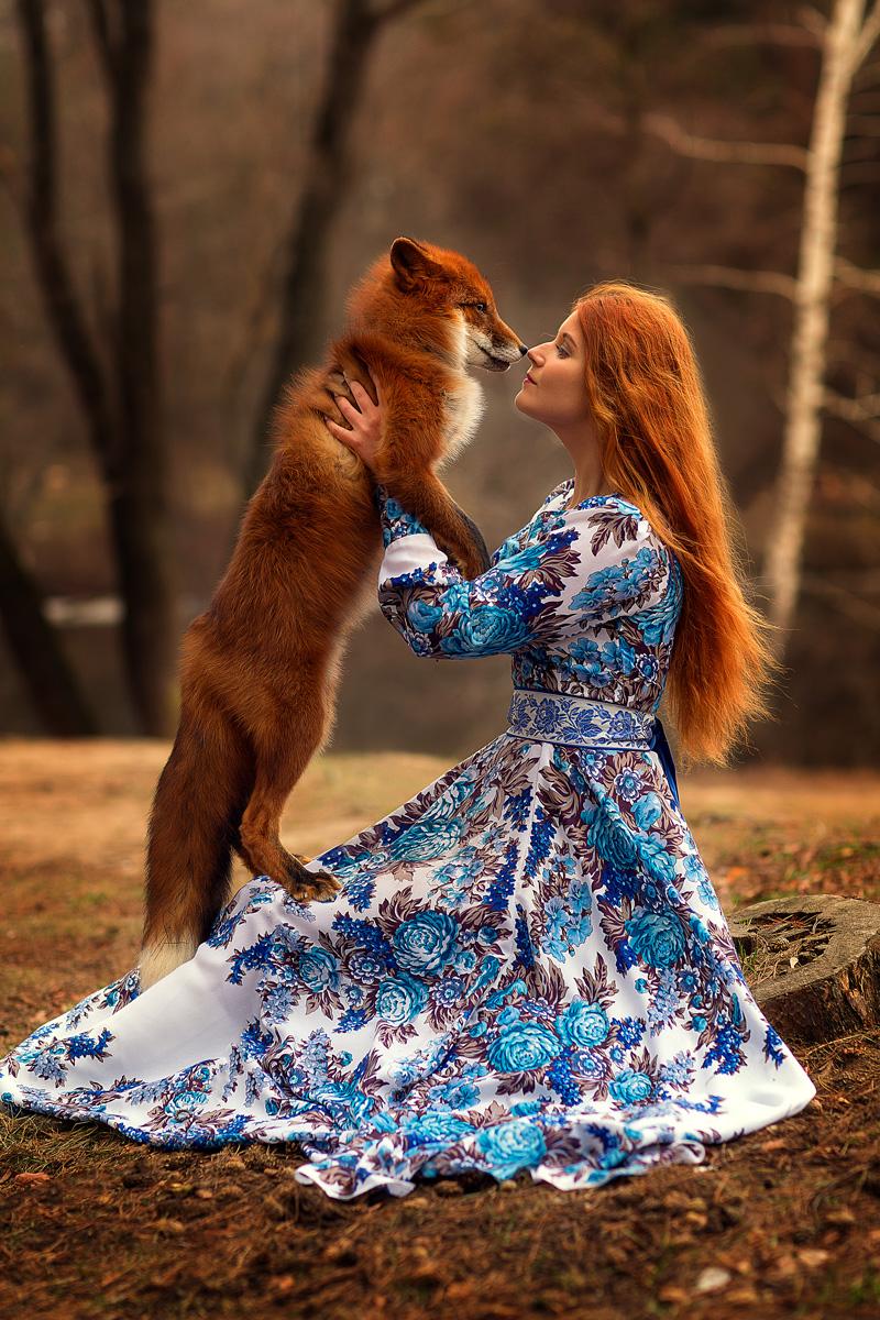 Фотосессия с лисой в Москве